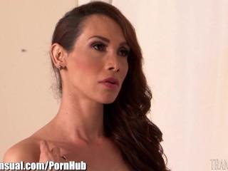 Preview 1 of TransSensual Jessy Dubai Bareback Threesome
