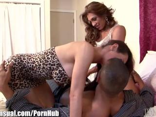 Preview 5 of TransSensual Jessy Dubai Bareback Threesome