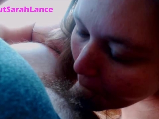 Preview 4 of BBW Blowing and gagging on a small white dick and playing with cum