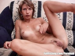 Lesbian Euro Teens Anal Fucking With A Strapon