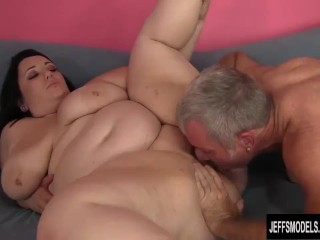 Cute and chubby bbw Alexxxis Allure swallowing cum