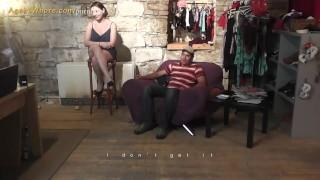 Whore agent shy busty guy seduces beginner a milf dance handjob