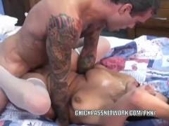 Curvy slut Lavender Rayne gets her tight twat fucked