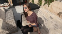 OutdoorSex! MaryWet Teen illicitly neighboring house!