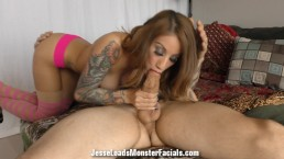 Stassi Sinclair bj with huge facial cumshot