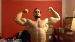 Big Muscle Bodybuilder Sven Flexes - Huge and Beefy!