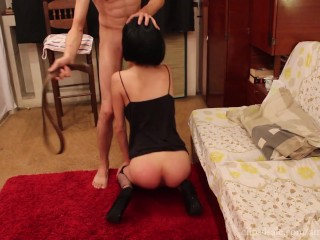 The Punishment by Amedee Vause (hard spanking & deepthroat)