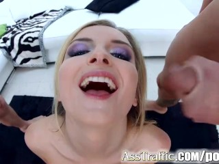 Asstraffic Canadian Jemma Valentine gets anal bang from two guys