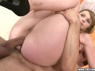 SKINNY ANAL WITH A PETITE CZECH REDHEAD NAMED MIRIAM