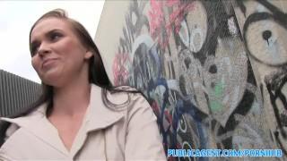 PublicAgent Hot babe fucks stranger in alleyway