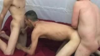 Threesome breeding men style gay