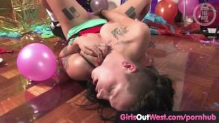 Floor on girl tattooed amateur masturbates party the australian solo