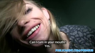 PublicAgent Tall blonde fucks for money On drilled