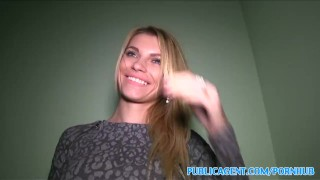 PublicAgent Tall blonde fucks for money Cougar and