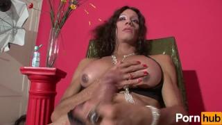 With her scene  plays karen rod stroking brunette