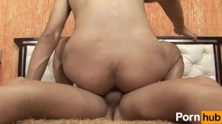 Cock  scene she another bags tits with
