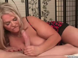 Cfnm group handjob orgasm