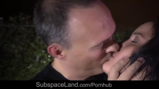 Two tramps in body stockings whipped and spanked in bdsm playground