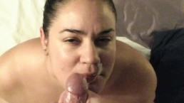 Mommy takes facial and eats cum....