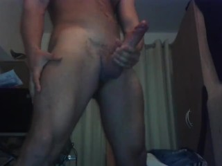21 year old muscular lifeguard with a 9 inch huge cock MASSIVE cumshot