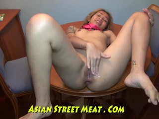 Giggling Japanese Sodded Up Clean Shyte Hole