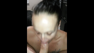 Longest deepthroat/throat fuck ever! Over a minute. Had to fart