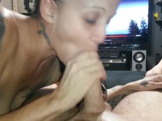 Preview 4 of Footjob Deepthroat lick finger his ass suck toes crush his nuts bite cock 1