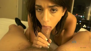 Screen Capture of Video Titled: Joseline Kelly gets a creampie int he morning