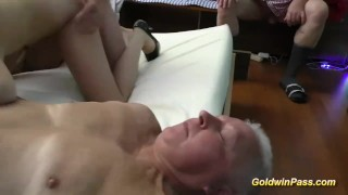 Orgy lederhosen gangbang blowjob orgy