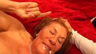 Gangbang grandmas my first swingers facial