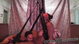 Sex couple having wild and dirty some ebony blowjob