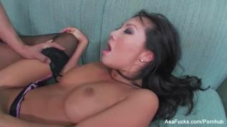 Asa Akira receives a pussy pounding & a facial