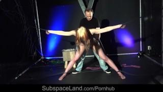 Gagged and bound teen girl bondage masturbated