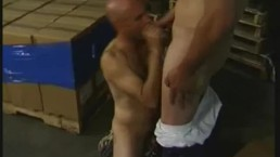Muscled Warehouse Men Ass Fucking