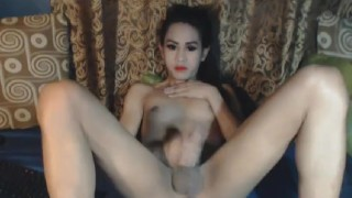 Nasty Shemale Babe Masturbation Show Big anal