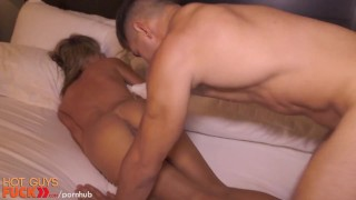 Dumb blonde gets drilled by fit straight guy.