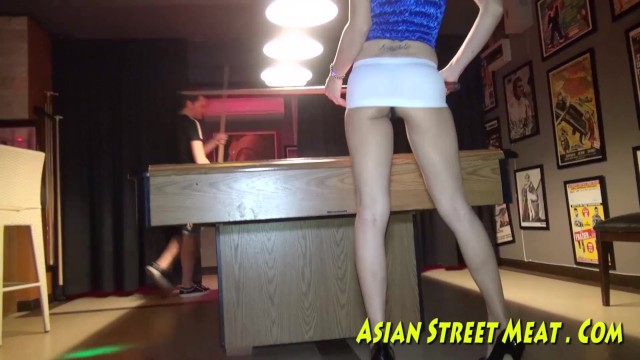 Asian granny porn tube Pool hall princess poked up poop tube