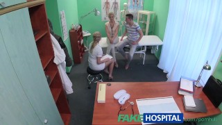 Preview 3 of FakeHospital Nurse watches as sexy couple fuck