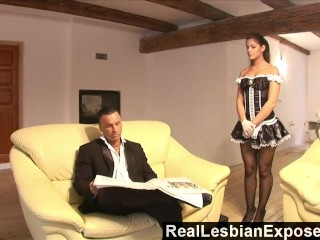 Preview 2 of RealLesbianExposed - Lonely Housewife Fucks The Maid