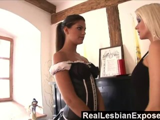 Preview 3 of RealLesbianExposed - Lonely Housewife Fucks The Maid