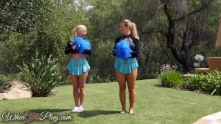 When Girls play - Hot lesbian cheerleaders Adult boobs