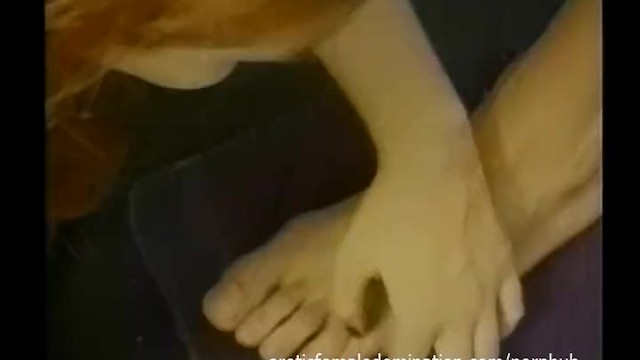 Strap on female domination movies Weird guy enjoys being treated like a whore