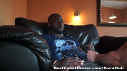 Soothing blowjob for a black construction worker dude (full video)