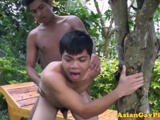Outdoor amateur adult threeway