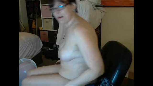 Geeky Chubby Girl Popping Balloons 19