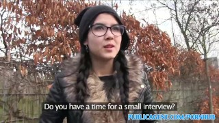 PublicAgent Emo chick has sex in the woods Cum young