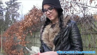PublicAgent Emo chick has sex in the woods Backyard public