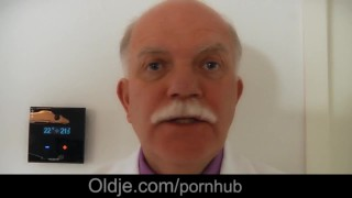 Old moustached majordom serve fuck to young mistress