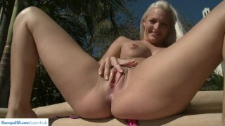 Twat outdoors cartel fingering macy blonde fingering