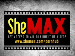 Shemale gets anal fucked while sucking shecock in sex orgy